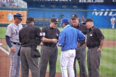 Exchange Of The Official Lineup Cards (Photo: Steve Contursi, Reflections On Baseball)